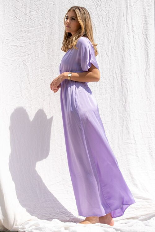 JOELLE SATIN LONG DRESS