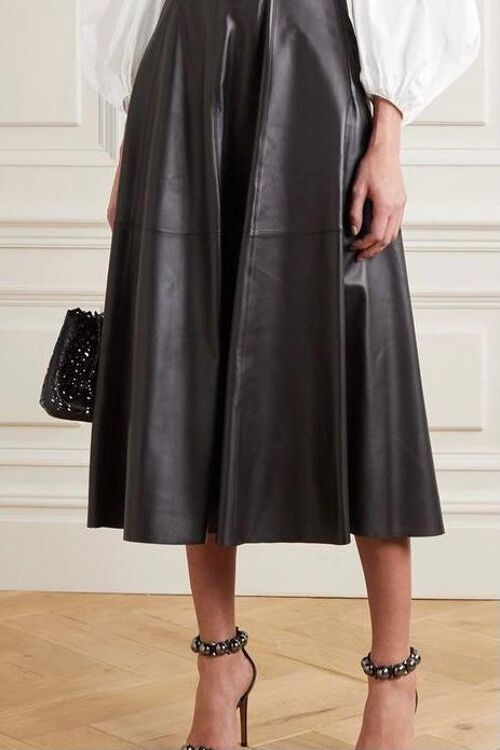 LEATHERLOOK LONG SKIRT