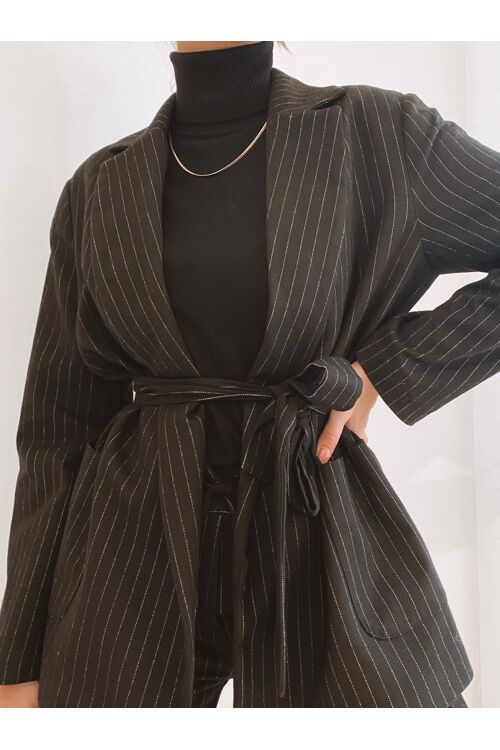 SARAH STRIPED BLAZER