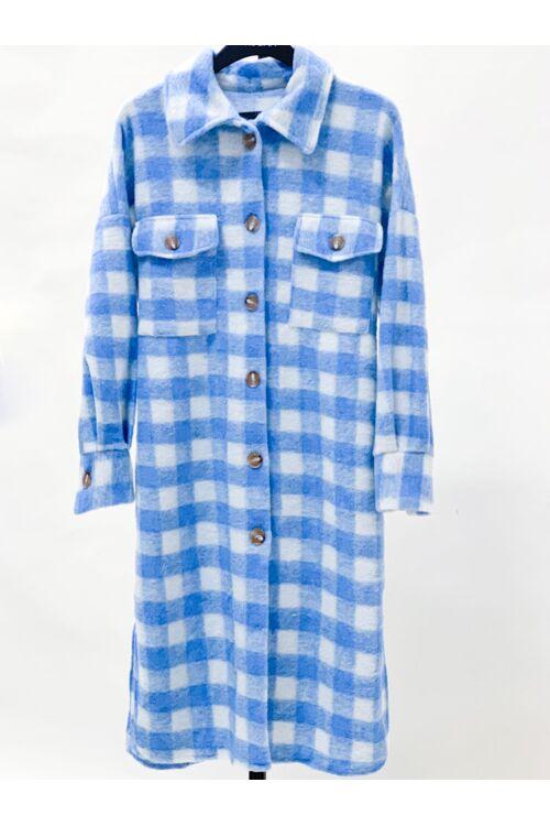 LIV SQUARED COAT BLUE