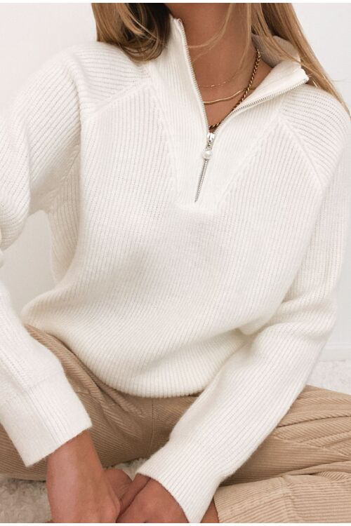 ZIPPED KNIT
