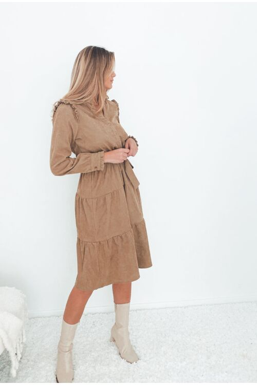 FLORA CORDUROY DRESS