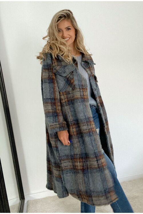 PASCALE CHEQUERED COAT