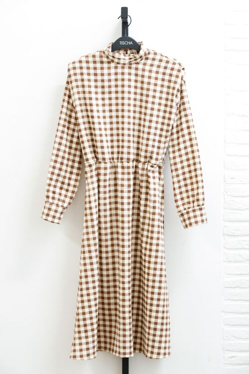 CHEQUERED LONG DRESS
