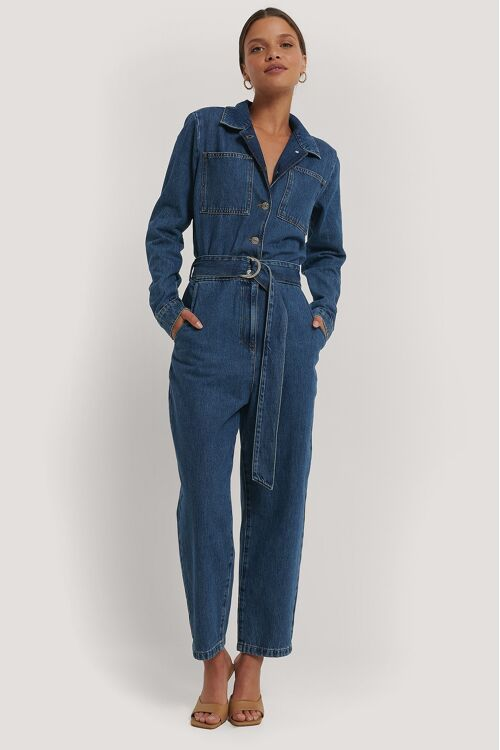 LEAH DENIM JUMPSUIT