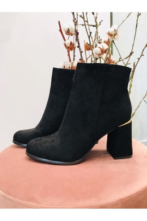 Boots heel classy suede