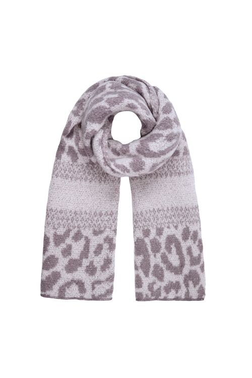 Winter scarf panther print