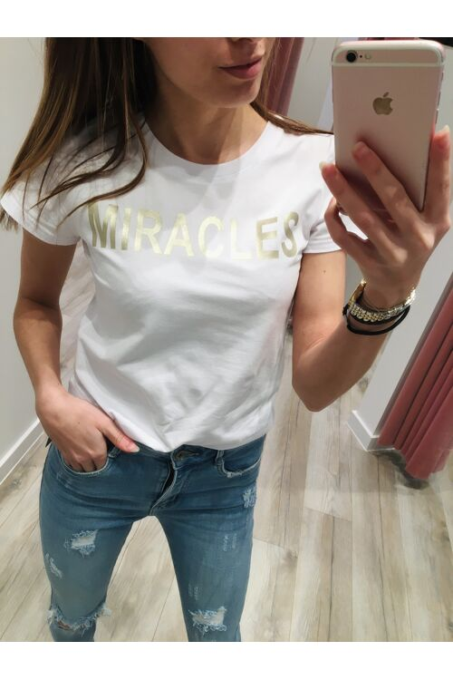 Tshirt white Miracles
