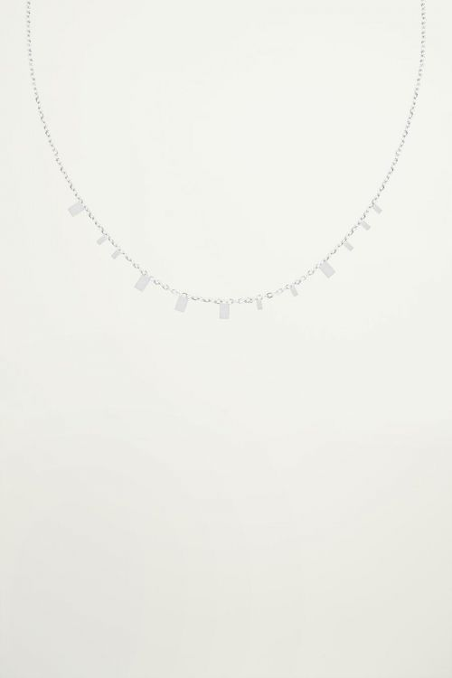 Necklace tiny rectangles