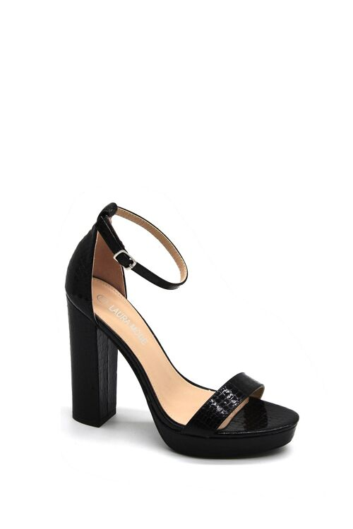 Hight heels black laké