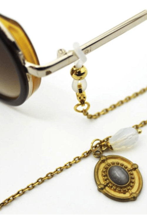 Sunglass Chain Grey Amulet