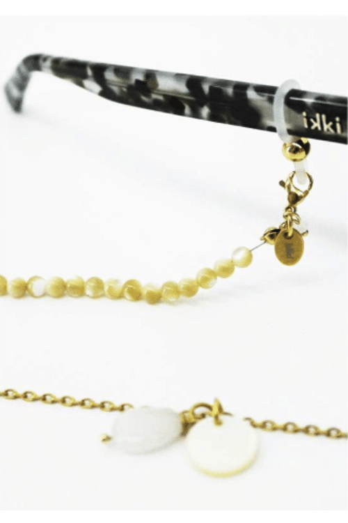 Sunglass Chain White Shell