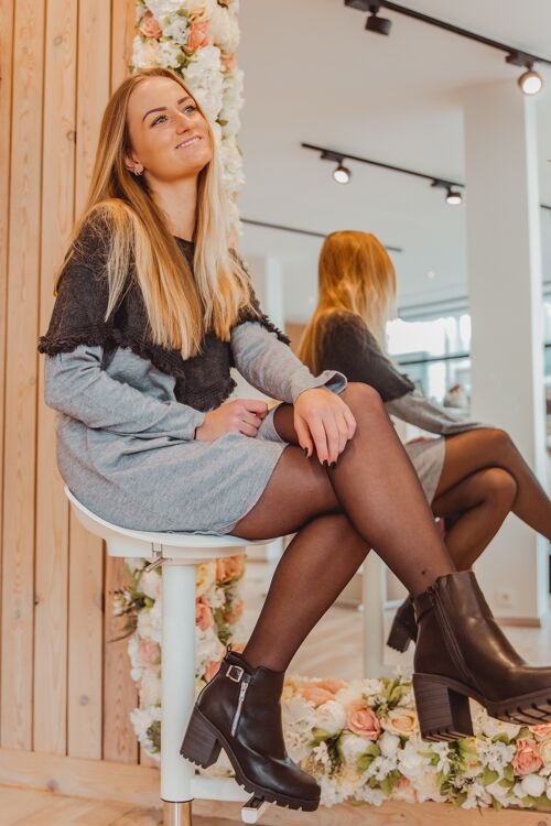 Sweaterdress/pull Grijs