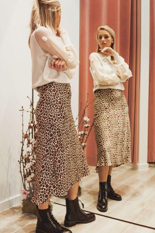 Skirt leopard colour