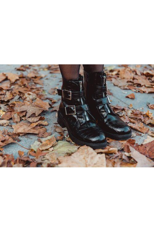 Boots laké croco gesp