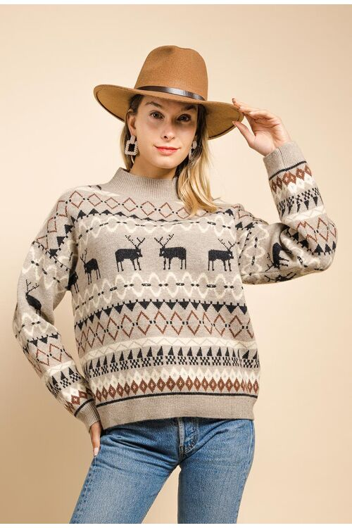 Sweater christmas beige