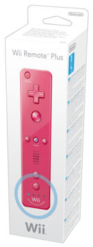 Wii Remote Plus Pink (Old) product image