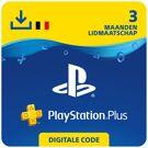 PlayStation Plus 3 maanden - PSN PlayStation Network Kaart (België) product image