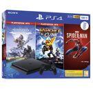 PlayStation 4 Slim 500GB Black + Horizon Zero Dawn Complete Edition + Ratchet & Clank + Marvel's Spider-Man product image