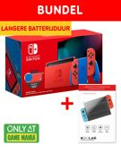 Nintendo Switch Mario Red & Blue + Screen Protector Tempered Glass bundel product image
