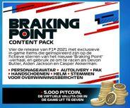 <p>Pre-order en ontvang op release een Braking Point content pack met: een personage avatar, autolivery, een pak, handschoenen, een helm, stemmen voor overwinningsberichten én 5000 Pitcoin!</p>