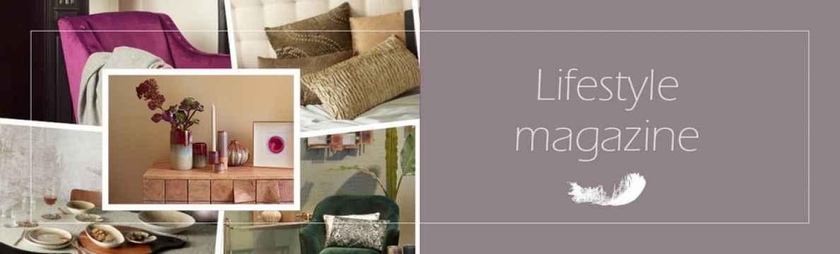 servies, meubelen, textiel, decoratie, kaarsen, speigels, verlichting, bloemen, planten
