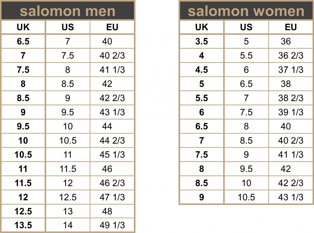 800e38acf37 maattabel - salomon